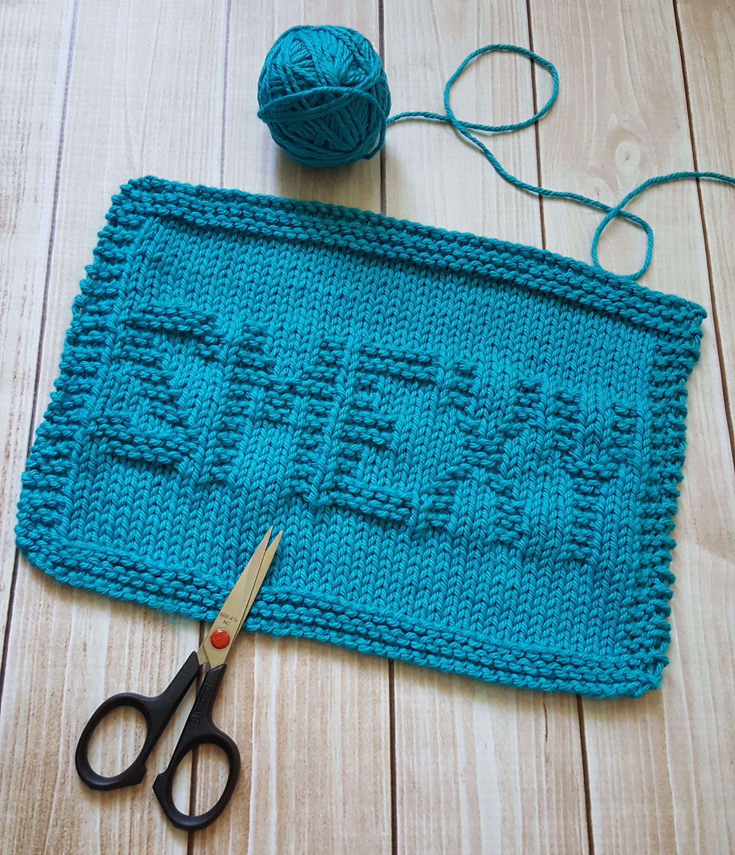 Smexy Knit Dishcloth PDF Pattern - Easy Beginner Knitting ...