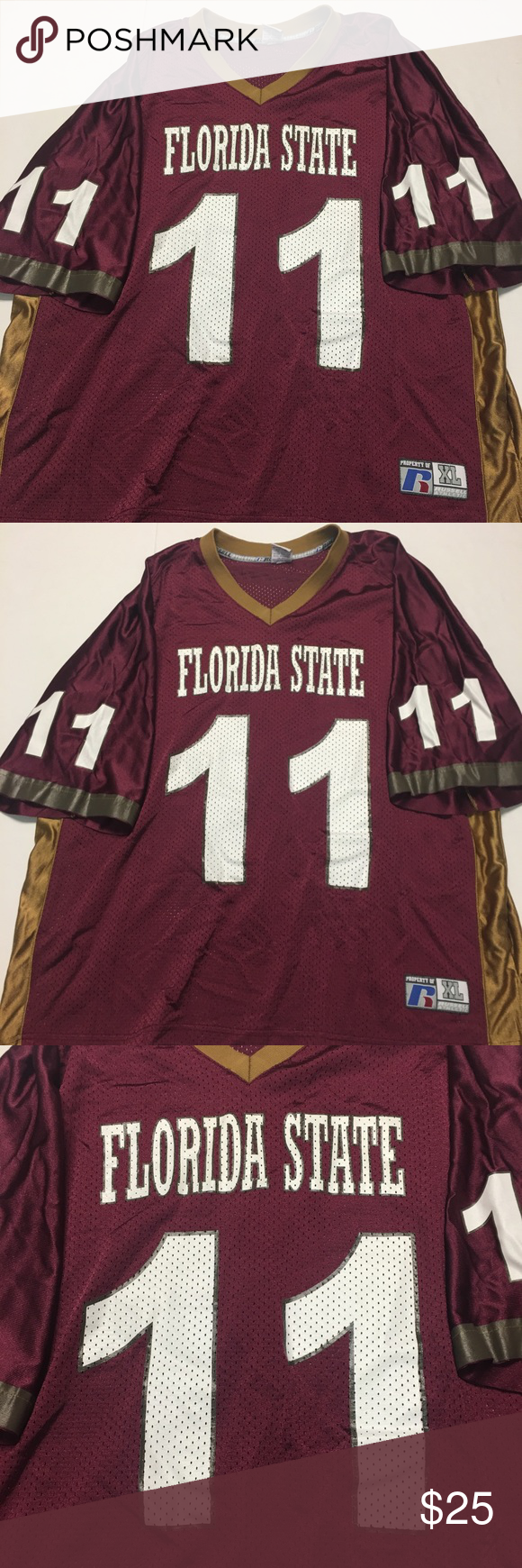 17eb449dc Florida State  11 Russell Athletic Jersey XL Florida State  11 Russell  Athletic Jersey XL There is no player name on the jersey No rips