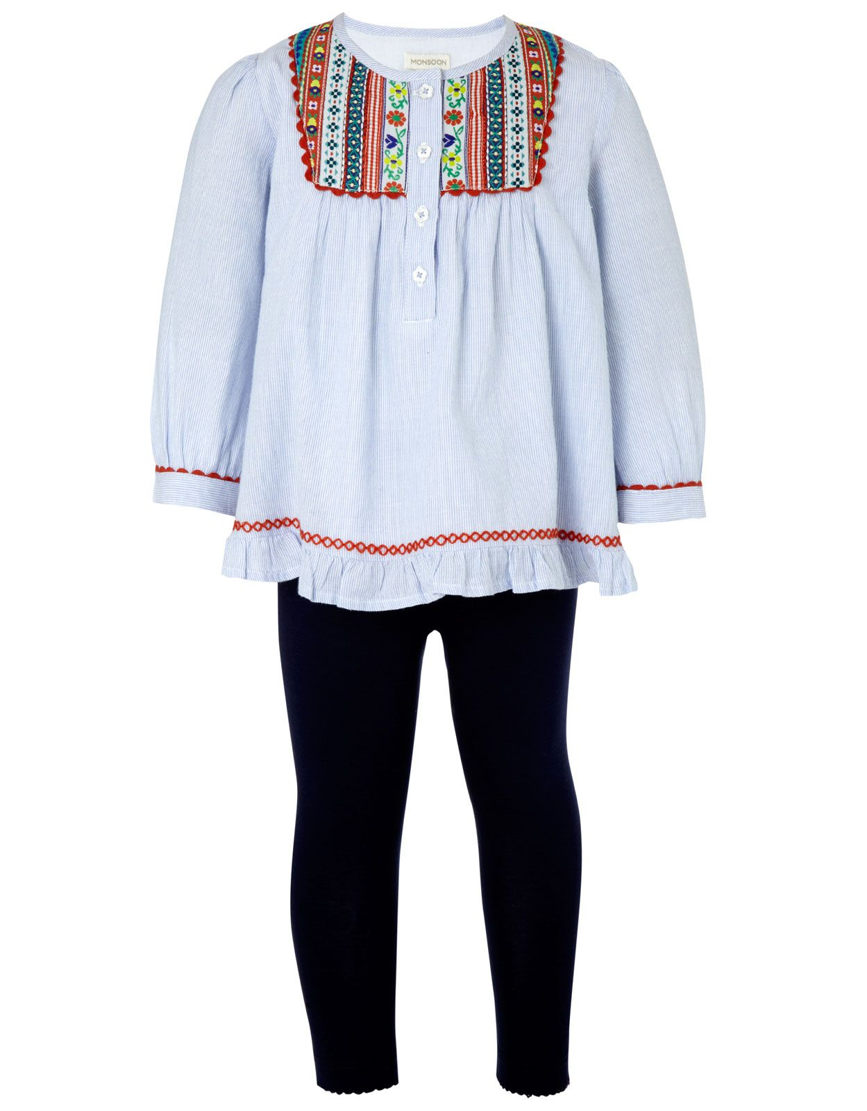 b8de1b26c Baby Embroidered Top And Legging Set