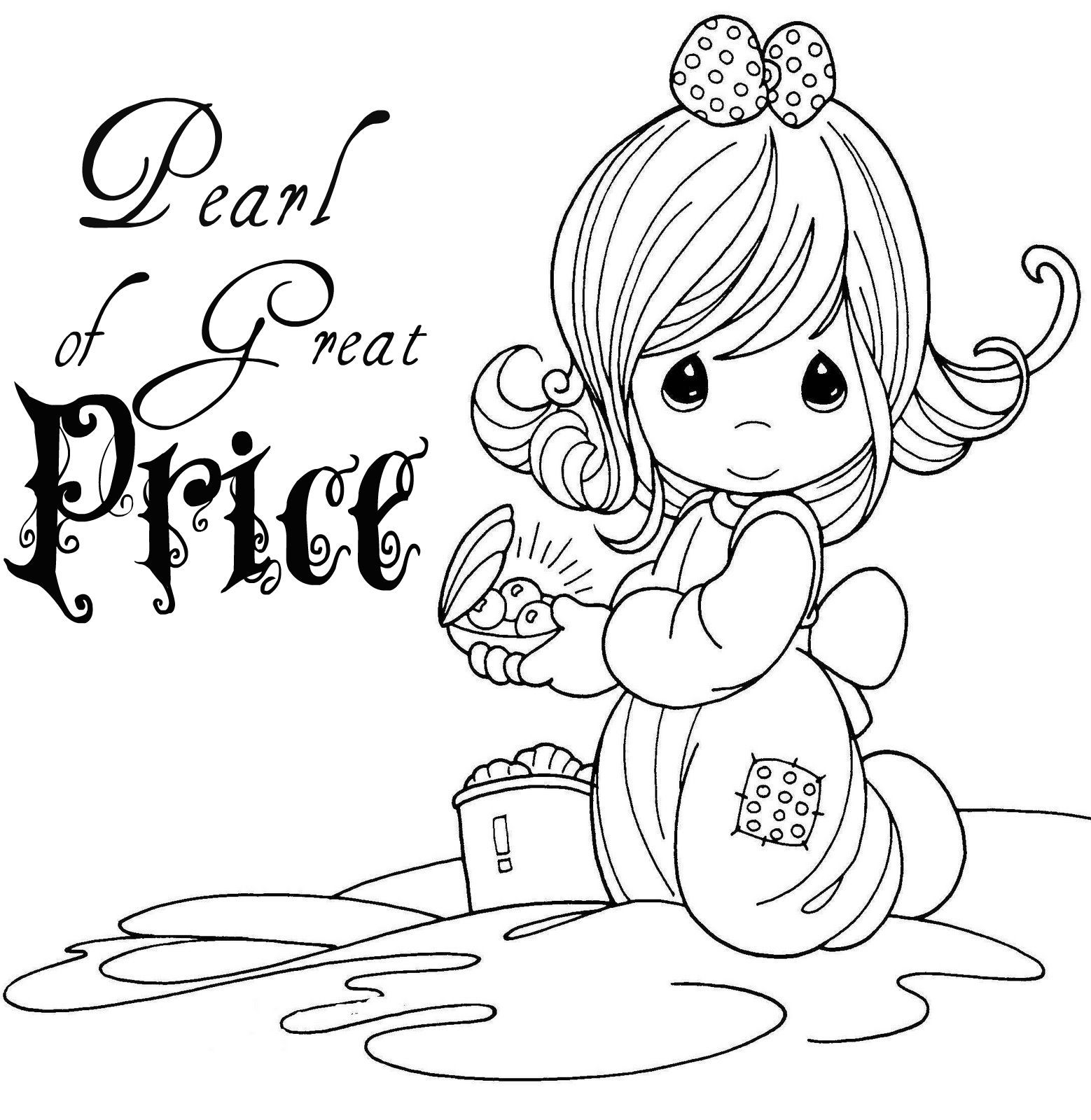 Pearl Of Great Price Precious Moments Coloring Pages Cute