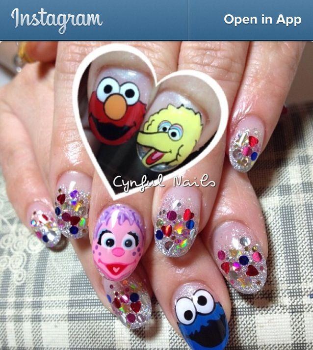 Sesame Street Nails Nail Designs Pinterest Sesame Streets Fun