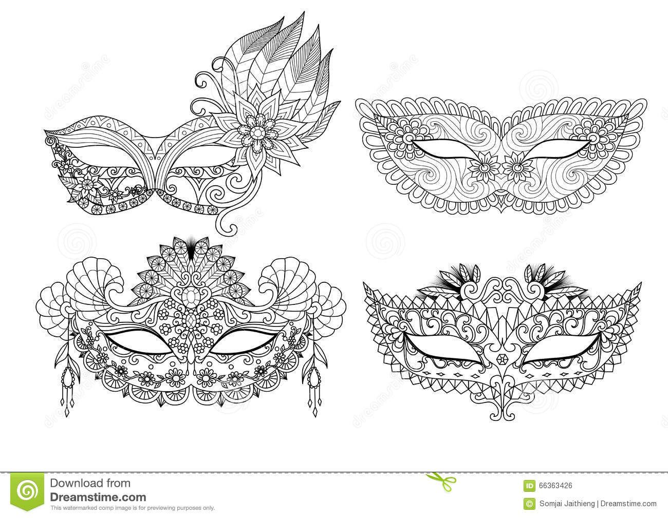 Coloriage Masque Carnaval
