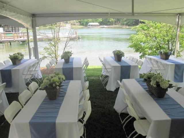 Wedding reception long rectangle tables table under the tent wedding reception long rectangle tables table under the tent they looked great on the long rectangular tables junglespirit Choice Image