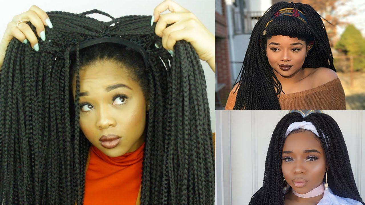 Easy diy box braid wig no closure styling tutorial