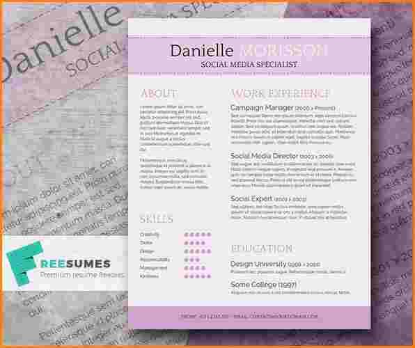5 Cute Resume Templates