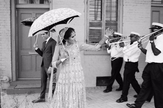 1a5889c7d5607 Traditional Indian Wedding at Race and Religious in New Orleans.  #secondline #neworleans #bride #groom #weddinginspo