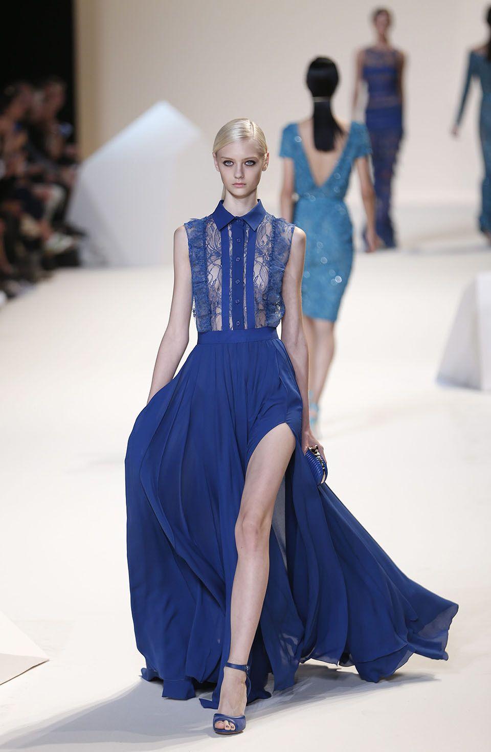 Beautiful blue dress fashion week paris dress it up pinterest