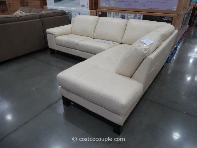 HTL Manhattan Leather Sectional Costco | Leather sectional ...