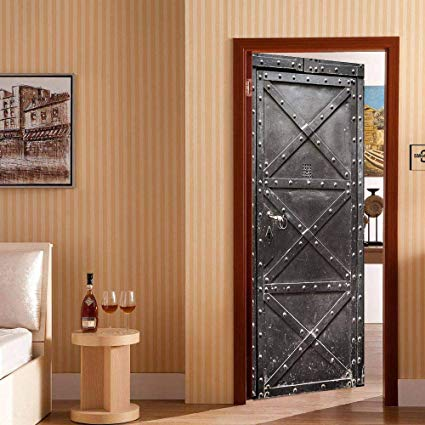 Yizunnu 3D Door Stickers Decal Vinyl Mural Art