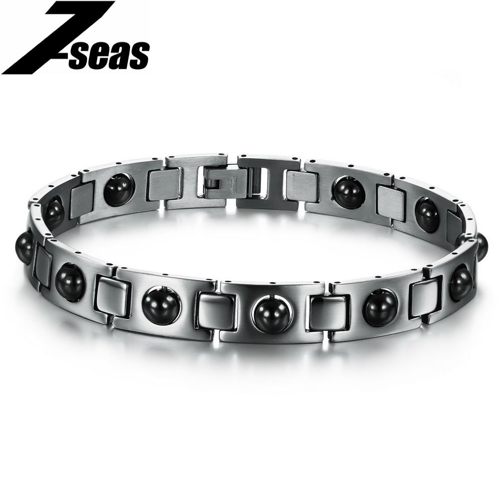 Fashion magnetic bracelets health care l stainless steel bangle