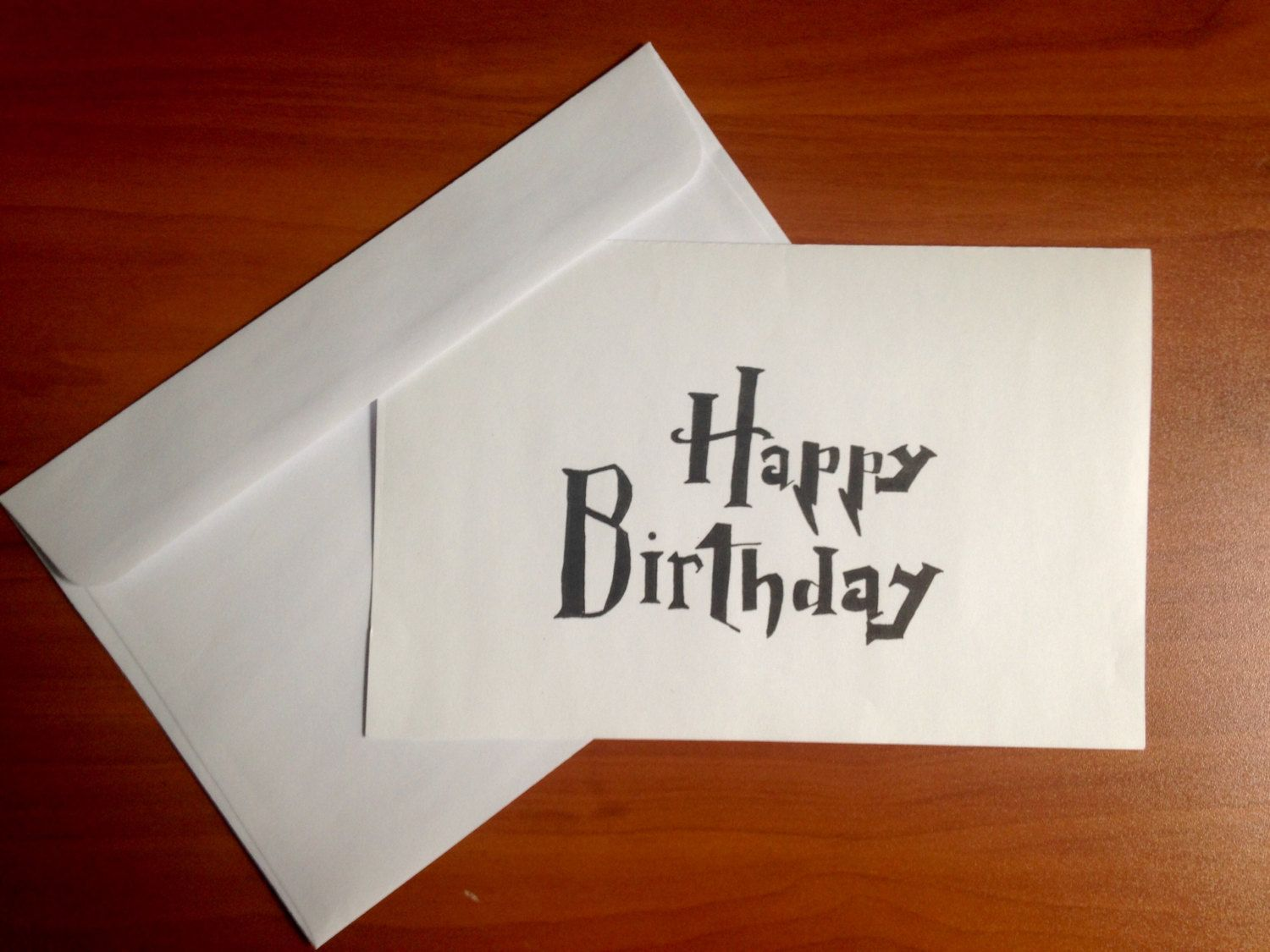 Printable Handwritten Harry Potter Style Birthday Card