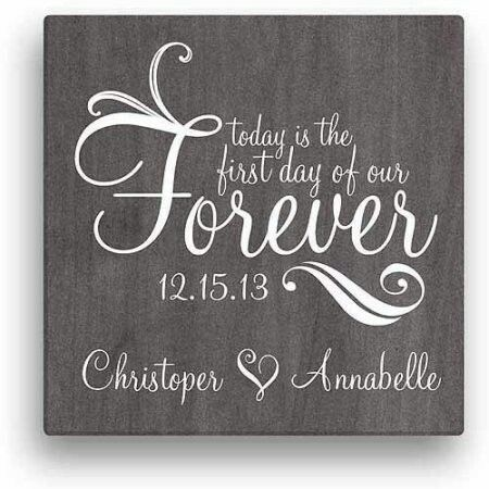 Forever Personalized Canvas Wall Art At Walmart Personalized Canvas Wall Art Wedding Gift Signs Wedding Canvas