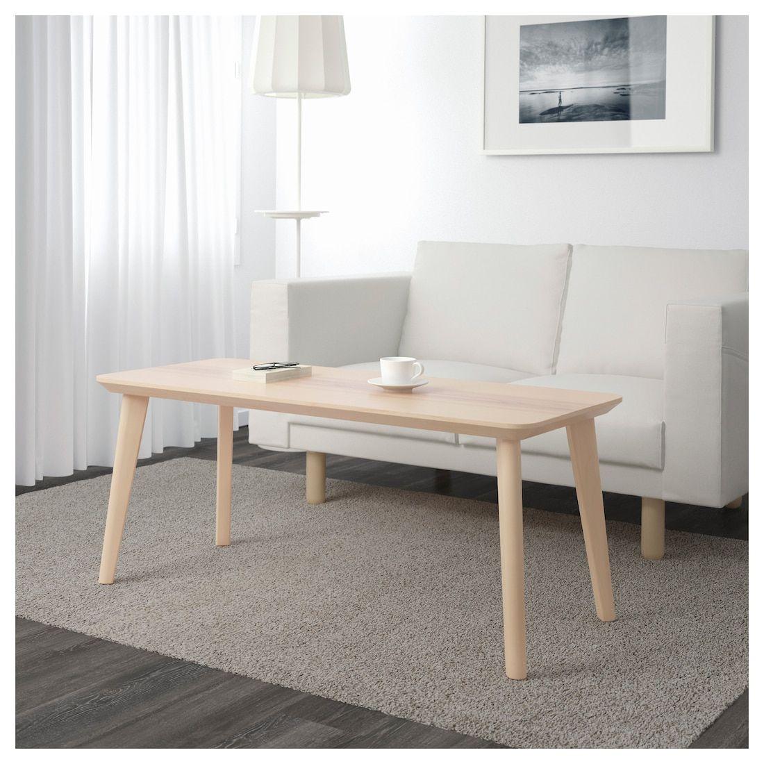 """LISABO Coffee table, ash veneer, 46 1/2x19 5/8"""" IKEA in"""