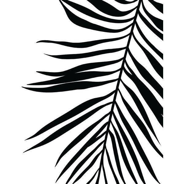 Palm Leaf Print Tropical Leaf Print Printable Art Palm Art Print