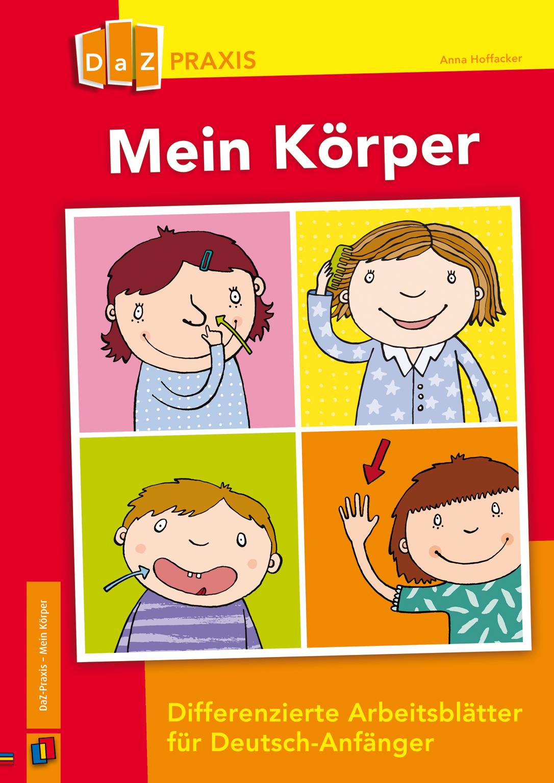 Mein Körper – differenzierte Arbeitsblätter für Deutsch-Anfänger ++ ...