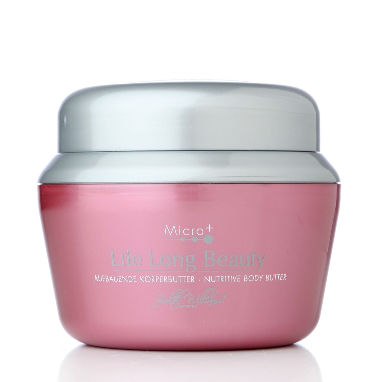 219188 Judith Williams Life Long Beauty Body Butter 400ml QVC Price:£25.50 + P&P: £3.95 Life Long Beauty Body Butter (400ml) from Judith Williams. Ideal for mature skin, it's enriched with shea butter and will help to leave your skin feeling silky smooth. Moisturise and rehydrate dry skin with this sumptuous body butter.