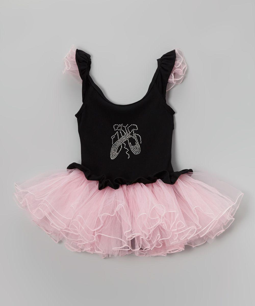 a9634264d Pink   Black Slipper Skirted Leotard - Infant Toddler   Girls ...