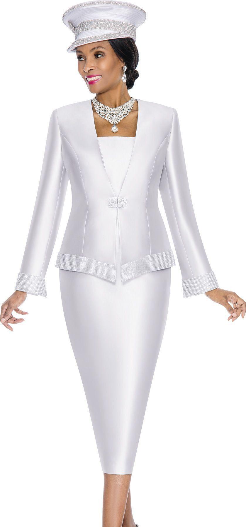 Terramina 7604C | Formal wear women, White skirt suit, Dresses