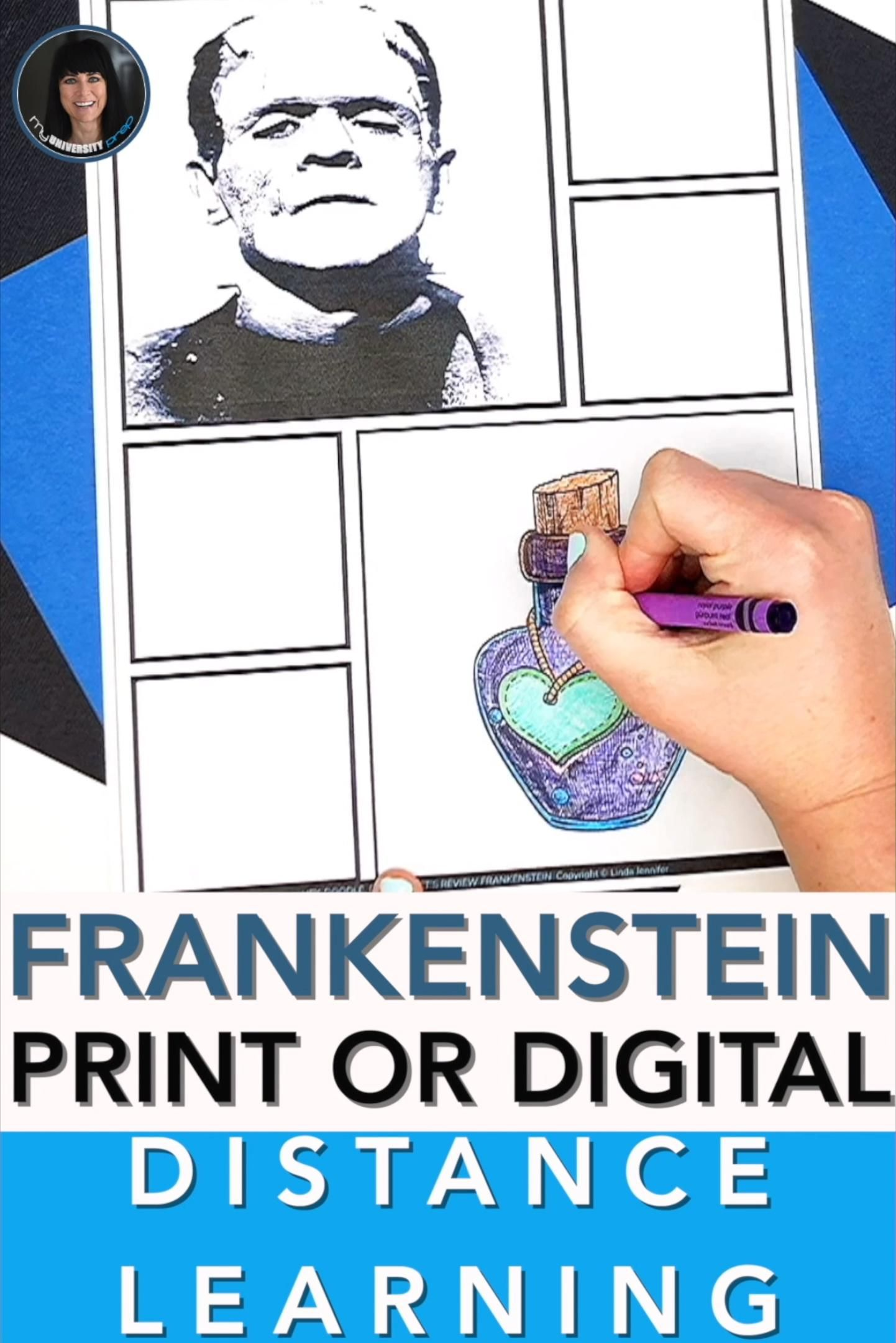 Frankenstein Distance Learning Print Or Interactive Video In 2020 Distance Learning English Language Arts High School Teaching High School English
