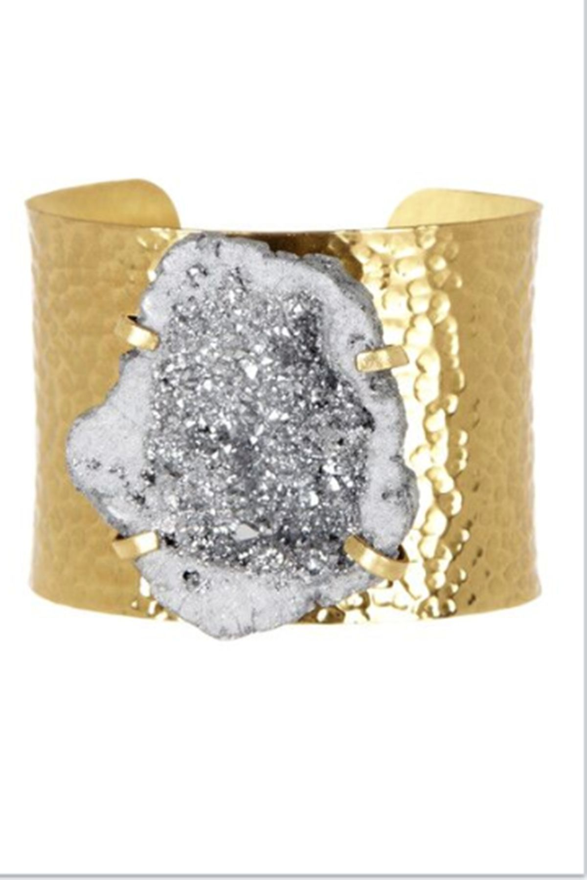 Womenus jewelrygold hammered silver metallic druzy cuff womens