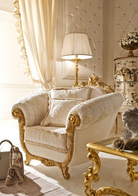 Italian Living Room Design: Italian Classic Luxury Wooden Living Room Furniture