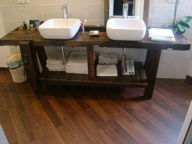 Restauración de banco de carpintero para mueble de baño | Cocina ...