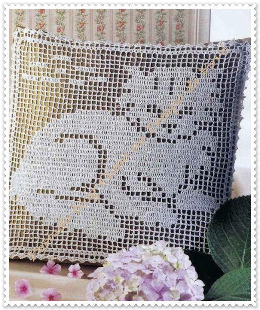 Almofada Gatinho Em Croche Com Graficos Com Imagens Capas De
