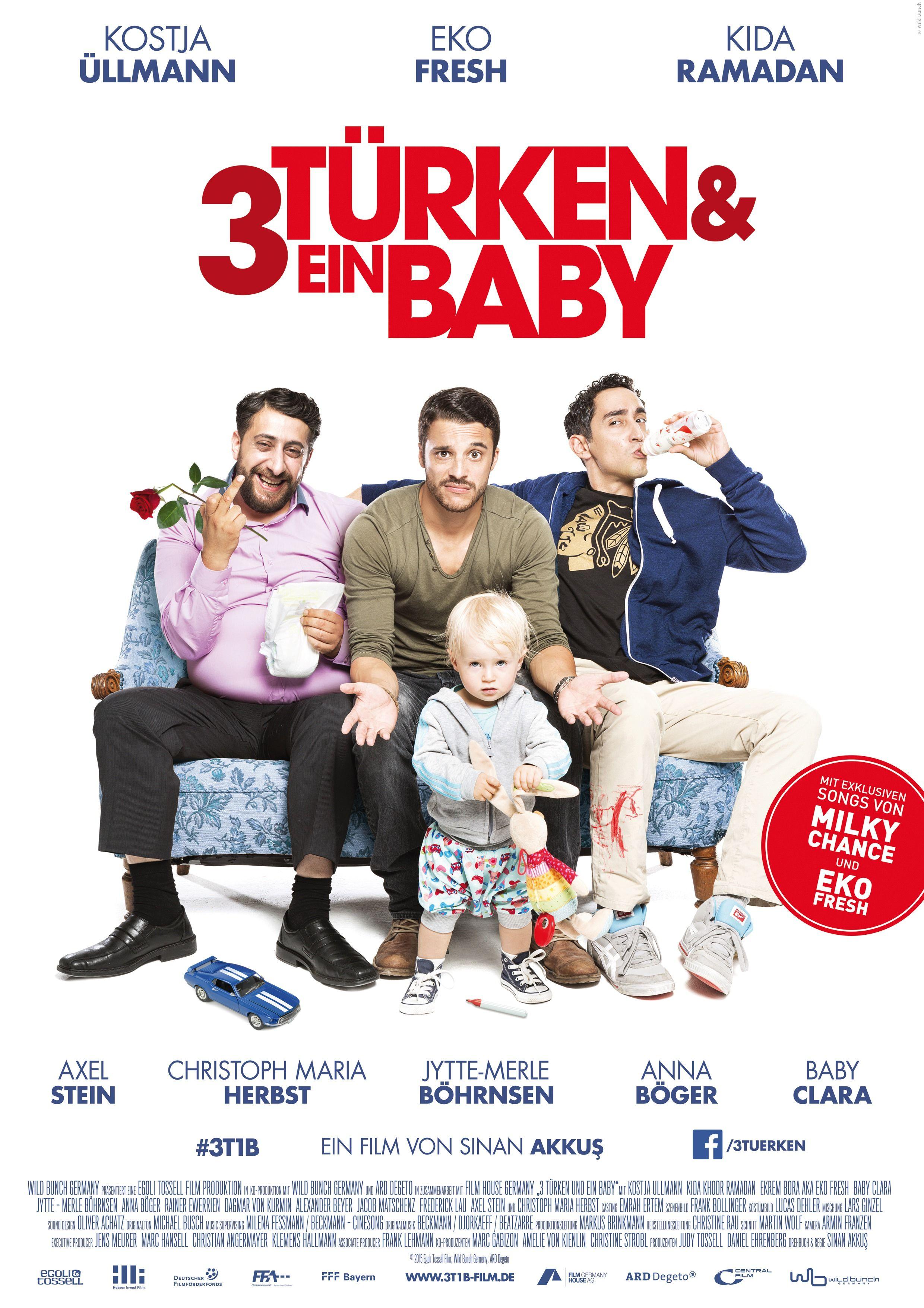 3 Turken Und Ein Baby Ahnungslos Aber Spass Dabei Drei Bruder Mussen Sich Um Nachwuchs Kummern Obwohl Sie Von Kindererziehung Ube Filme Baby Kostja Ullmann