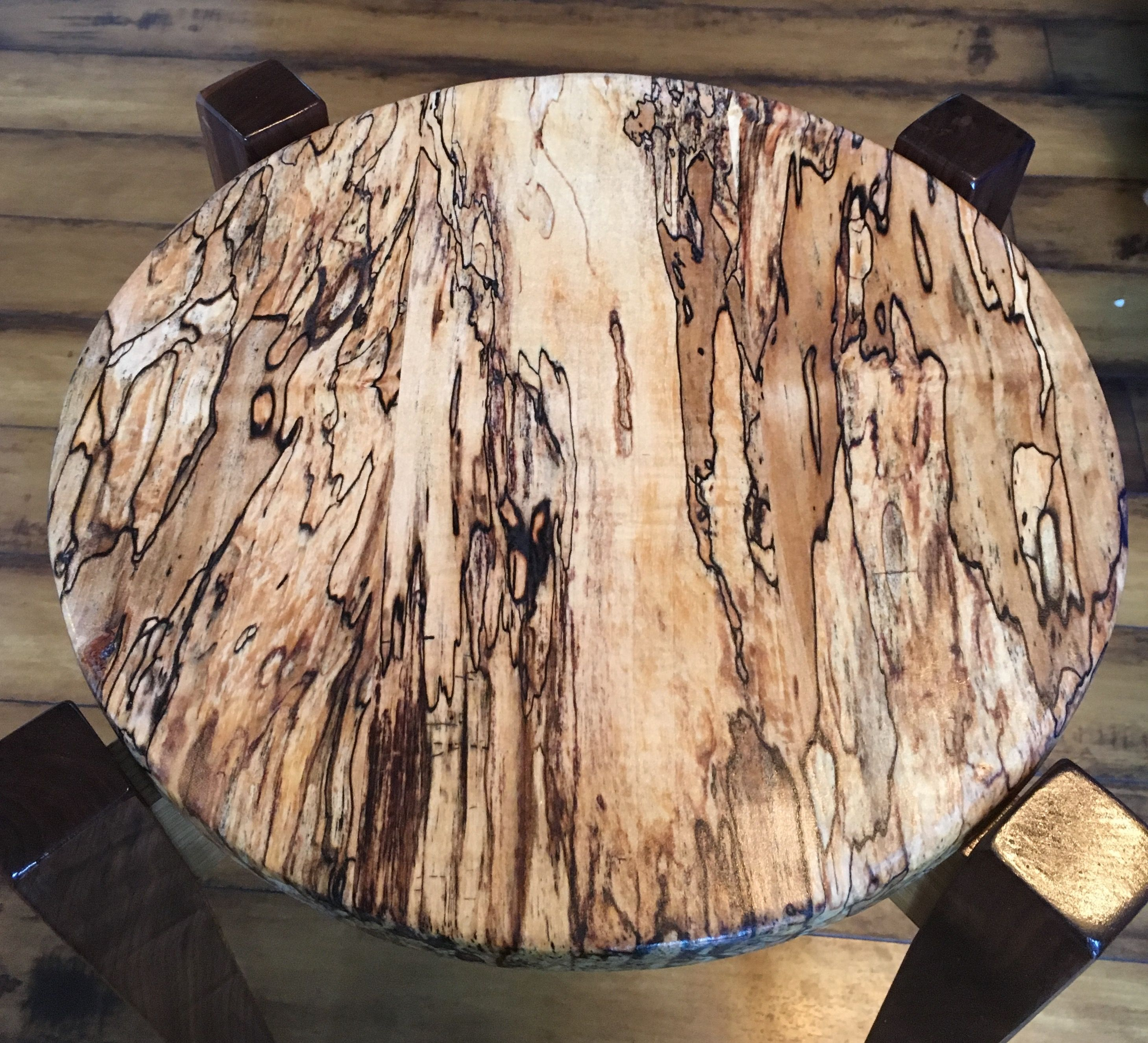 New End Table Spalted Maple Oak Walnut Design From