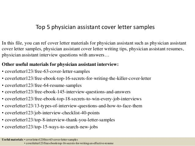 Cover Letter Template Physician Assistant | Cover Letter Template ...