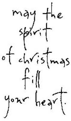 Penny Black Rubber Stamp - Christmas Spirit