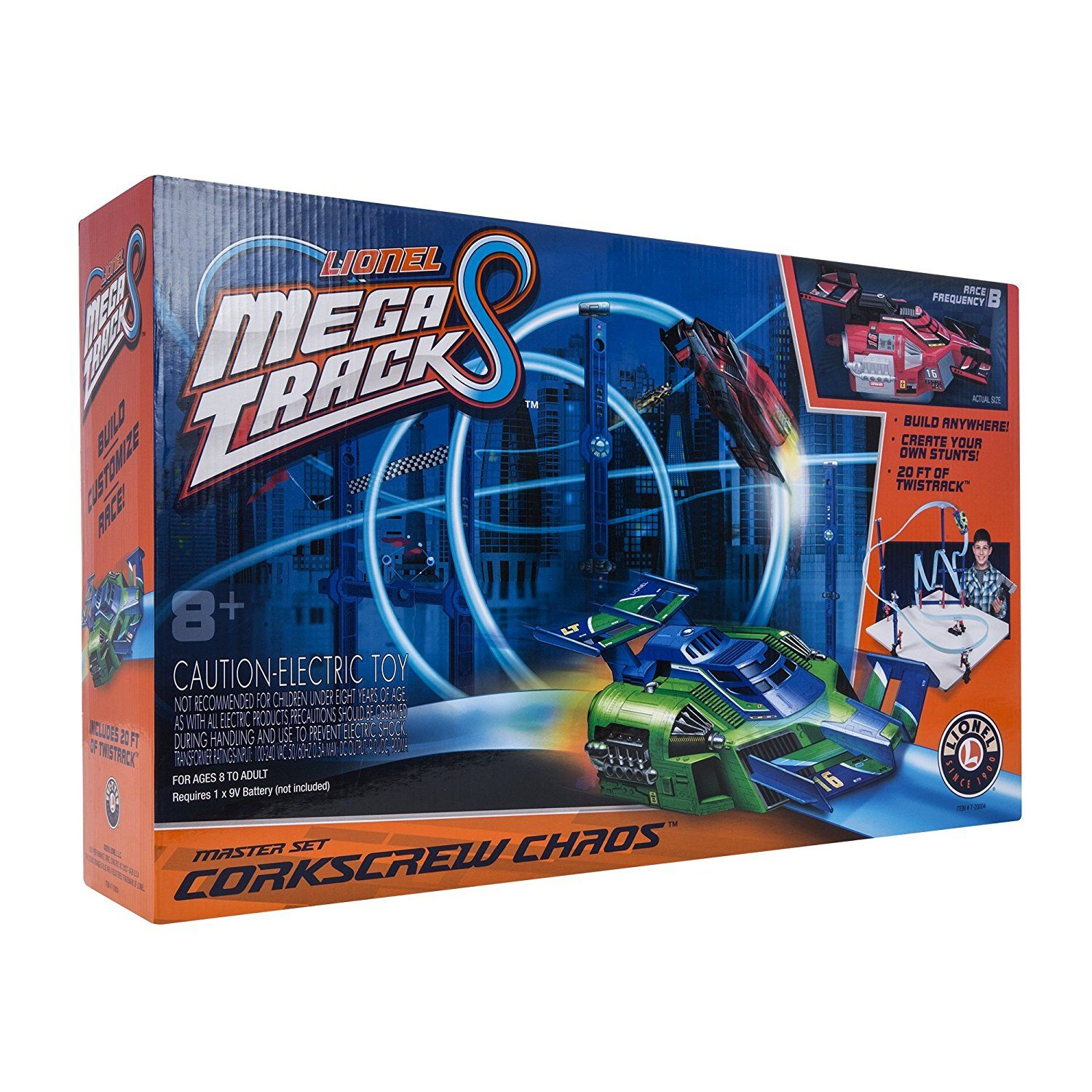 Amazon.com: Lionel Mega Tracks - Corkscrew Chaos Red Engine: Toys & Games