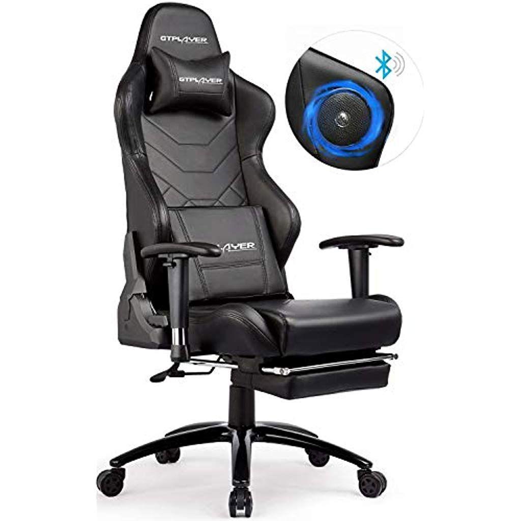 Gtplayer Gaming Stuhl Mit Fussstutzen Und Lautsprecher Bluetooth Gamer Stuhl Musik Burostuhl Schreibtischstuhl Ergonomisches Drehs Gaming Chair Home Decor Decor