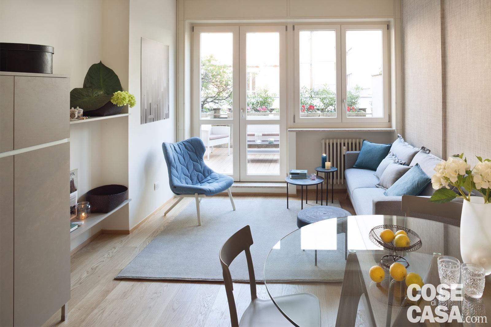Un Bilocale Di 37 Mq Con Colori Soft Idee Per Decorare La Casa