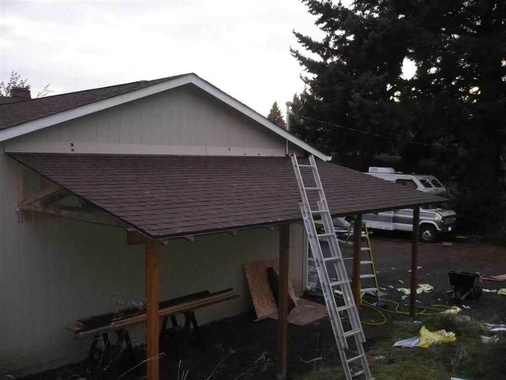 Lean to carport build The Garage Journal Board Curved