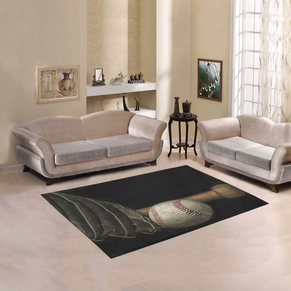 Dstory Floor Decor Vintage Grunge Effect Low Key Baseball Bat Area Rug Carpet 53x4 For Living Room Bedroom Read More At The Image Link