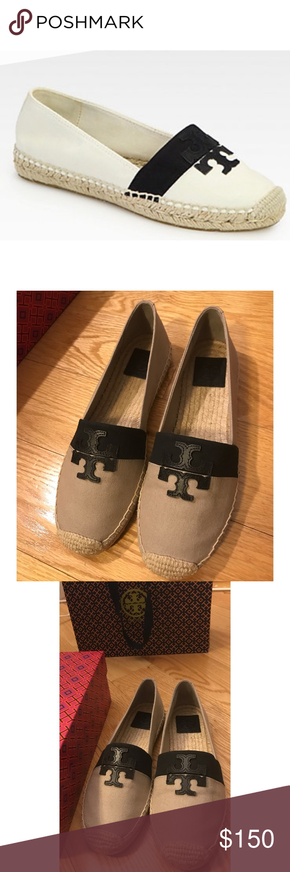 e87f6b7d345 NWB Tory Burch Weston Canvas  amp  Leather Espadrilles Brand new in box Tory  Burch Weston
