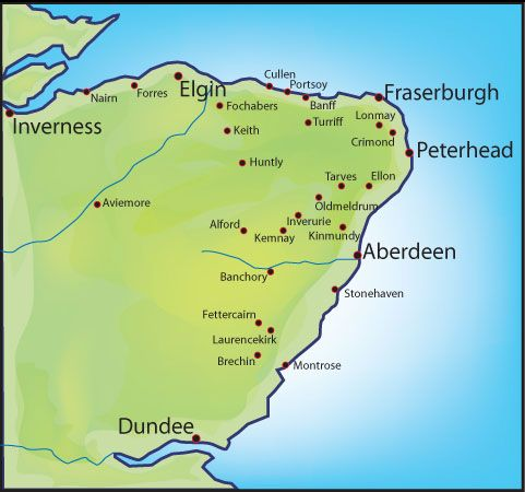 Map Of Aberdeenshire map of aberdeenshire coast   Google Search | Slains Castle in 2019