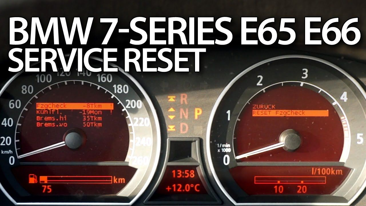 How to reset service reminder in BMW E65 7Series E66