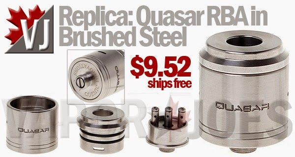 Replica Quasar Rebuildable Dripping Atomizer In Brushed Steel