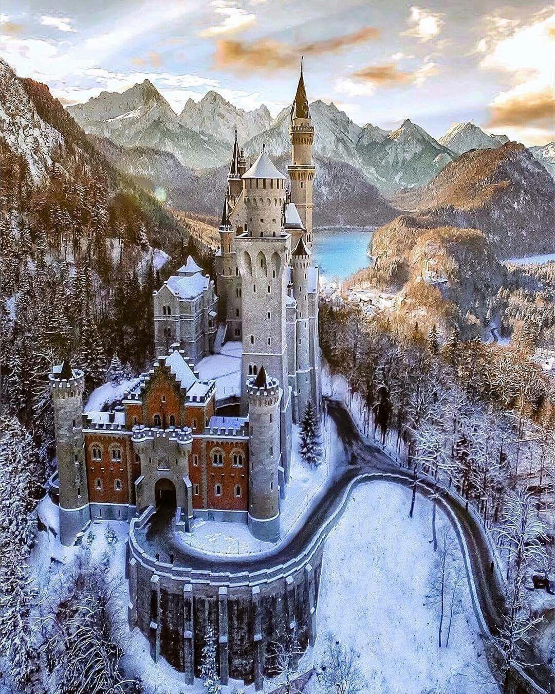 Schloss Neuschwanstein Bayern Deutschland Neuschwanstein Castle Germany Castles Beautiful Castles