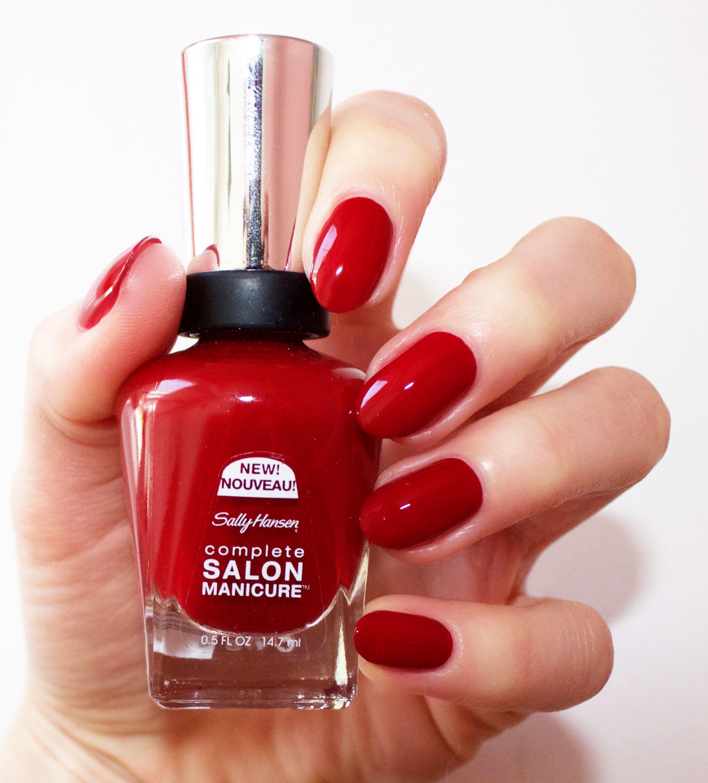 Red Over Heels Sally Hansen Pinterest Red manicure