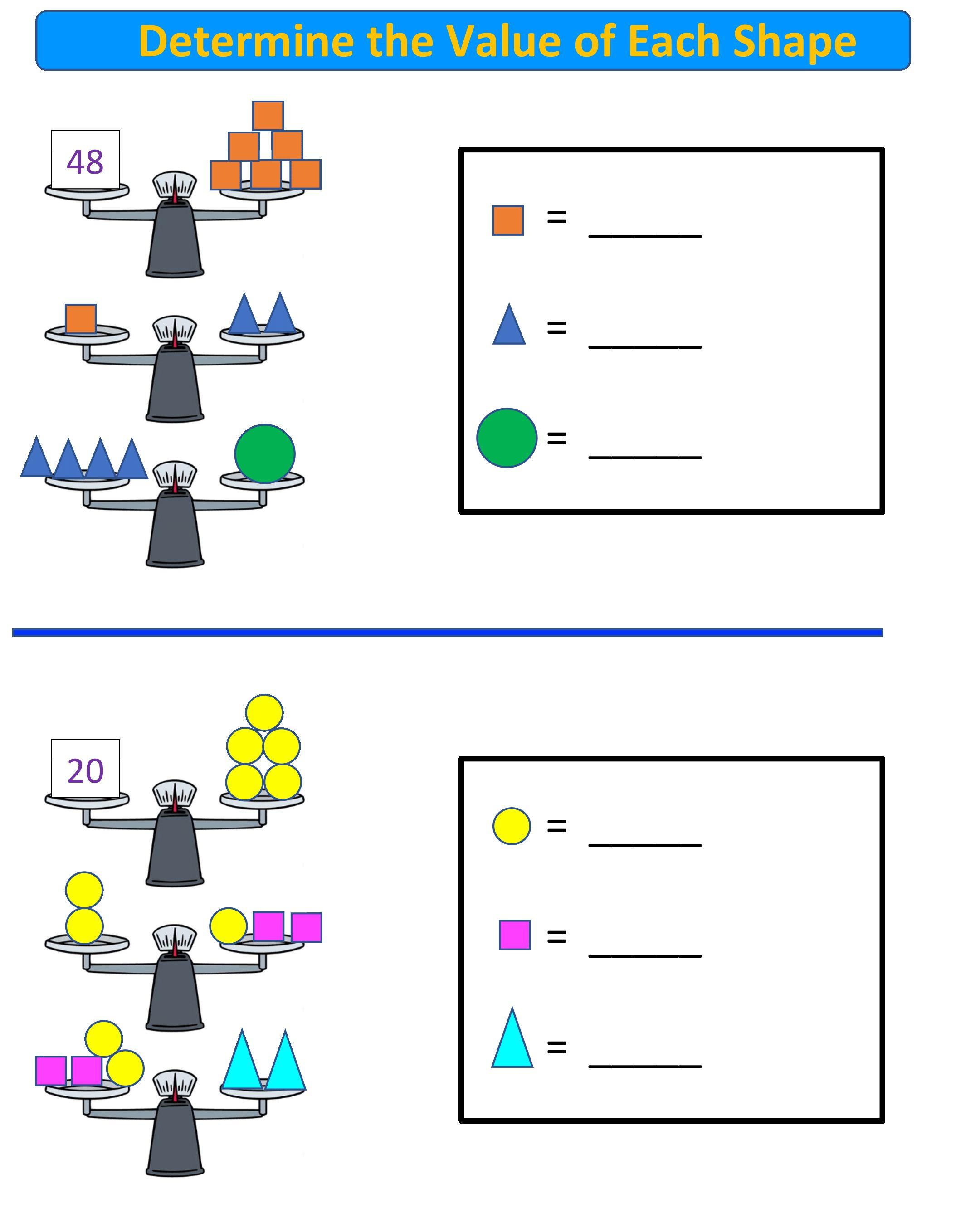 Free Math Worksheets Balance Scale Math 3 5th Grade Balanced Math Free Math Free Math Worksheets