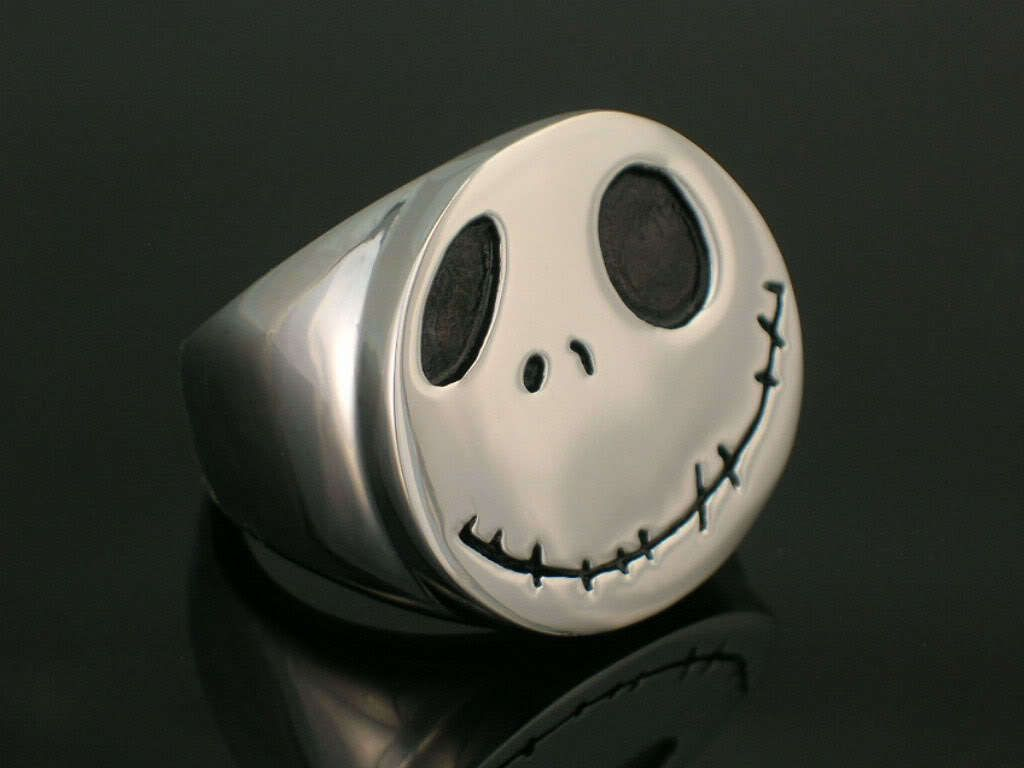Ring of Nightmare Before Christmas Jack Stainless 3D Figure Fantasy Rock Roll