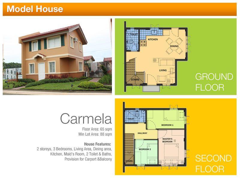 House and Lot CAMELLA CARSON @ VISTA CITY CARMELA 3 Bedrooms, 2 ...