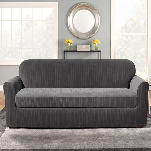 Grey Couch Slipcovers Loveseat Slipcovers Cushions On Sofa