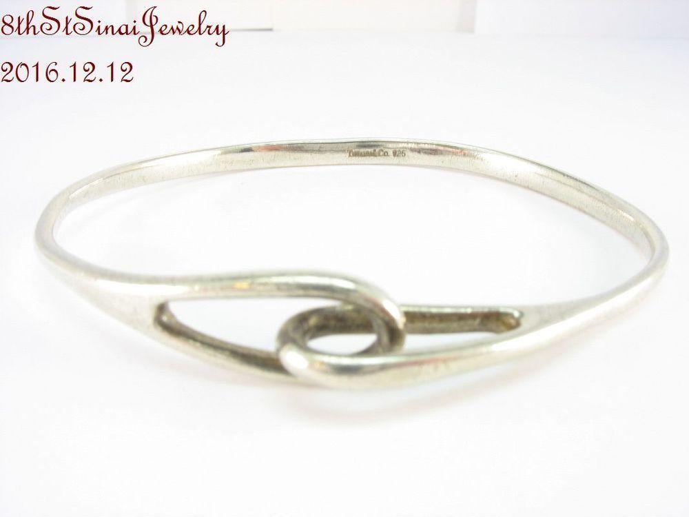 4f75f816b Estate Tiffany & Co Sterling Silver 925 Locked Loops Knot Bangle Bracelet  #TiffanyCo #Bangle