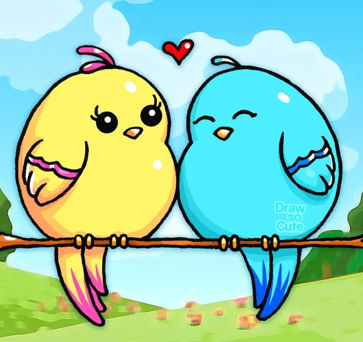 Aw Lovebirds Draw So Cute Drawing Ideas Pinterest Cute