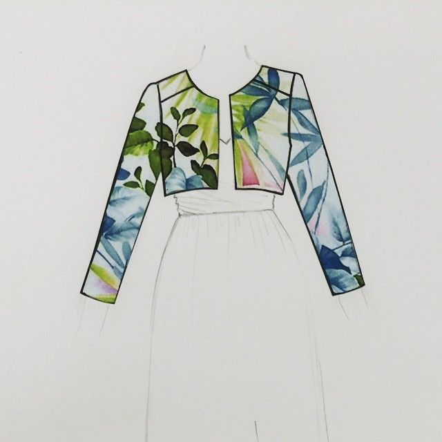 Looking forward to seeing the official pics of this paradise inspired jacket commission for a June bride #Bridal #wedding #bespoke #weddingday #taradeighton #Hastings #paradise