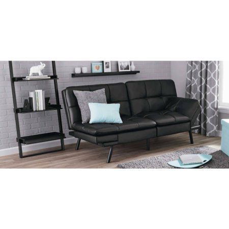 mainstays sofa sleeper with memory foam bed mattress replacement sydney futon multiple colors walmart com miami